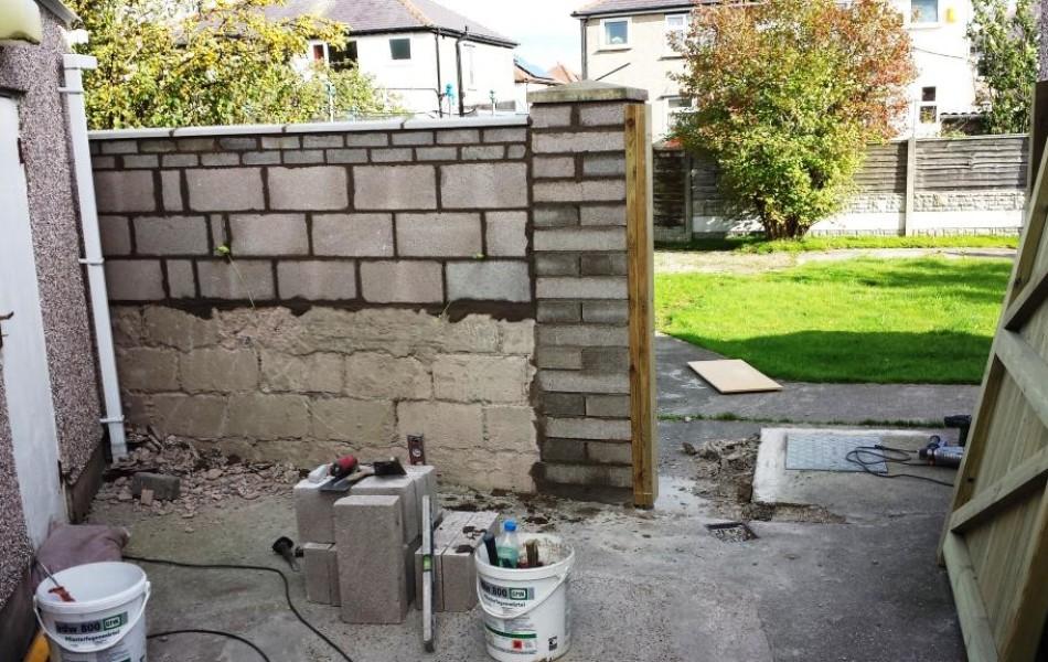 Block pillar and wall