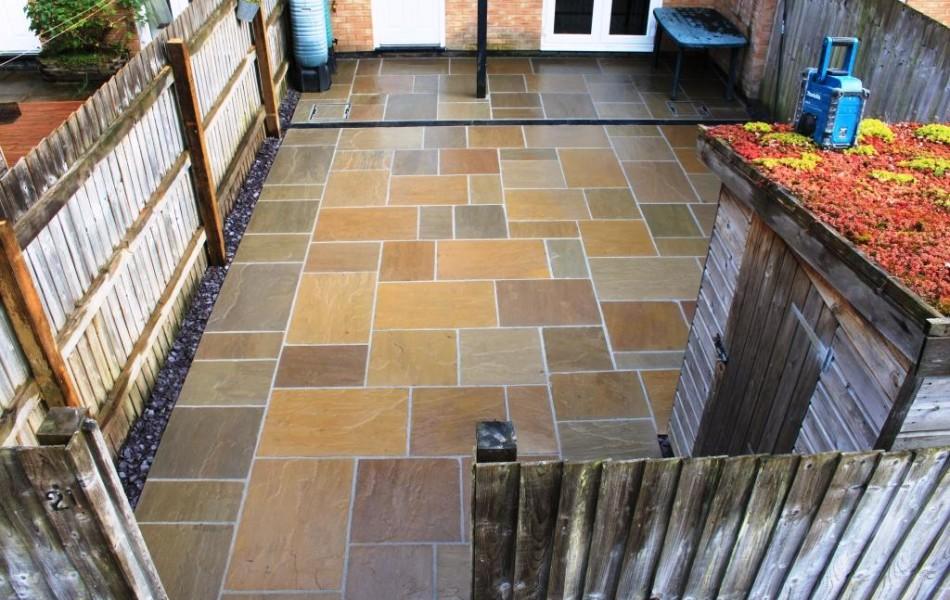 Raj green Indian sandstone GFTK resin mortar Carnforth