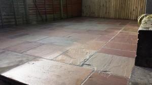 Raj green Indian sandstone GFTK resin mortar Caton